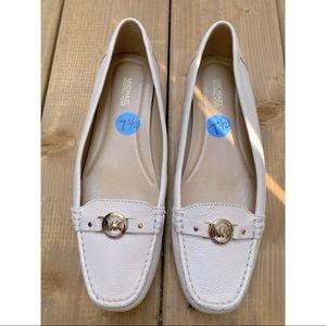 Michael Kors Cream Leather Loafer